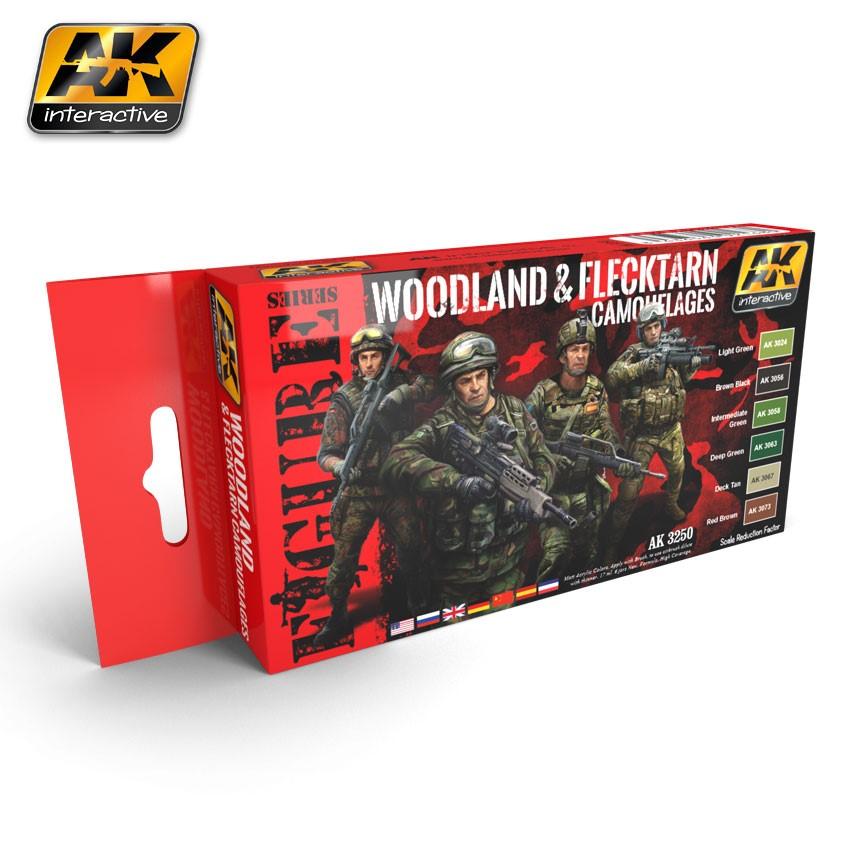 Woodland and Flecktarn Camouflages Set