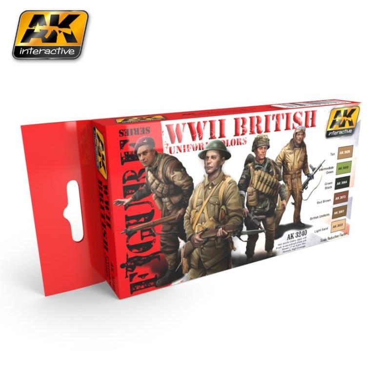 WWII British Uniform Colors Set