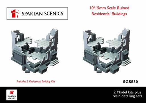 Residential Ruined Buildings 10/15mm